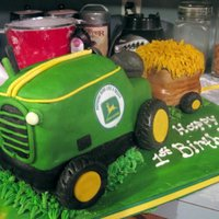 John Deere Tractor  I looked at so many JDT cakes here on CC and used parts of each for this. Thanks so much everyone that posted a JDT for the inspiration!...