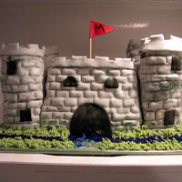 Macbeth's Castle  Made for a group of senior students who had been reading Macbeth. They finished with a 'feast'. WASC cake w/buttercream under MMF...