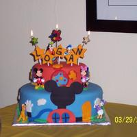 Mickey Mouse Club House First cake I ever did using fondant.