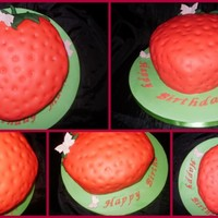 Strawberry Cake Strawberry cake for a strawberry loving girl x