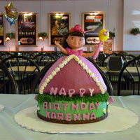 Dora Princess Birthday Cake My daughter wanted a Dora princess cake. First/only time making a princess cake.