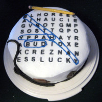 Word Search Birthday Cake My dad loves word search puzzles, so I just had to make one for him. I had some issues with the icing, but I was pleased with how the top...