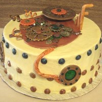 All Geared Up  Steampunked Cake