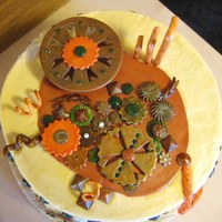 All Geared Up Steampunked Cake My imagination was all geared up and ready to create, unfortunately my cake decorating skills don't quite live up to my imagination....