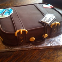 Luggage Cake inspired by other CCer's ...made for a friend who is leaving on a trip across europe
