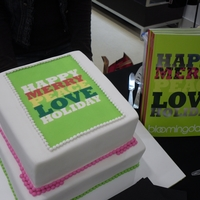 Bloomingdales Holiday Cake This was a cake for Bloomingdales Holiday Best Costomer Event. They wanted their logo with nothing else on the cake. This is what I did. I...