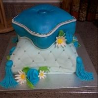 Pillow Cake Pillow cake, carved the cake and covered it with fondant