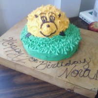 Katie From Horton Hears A Who   A birthday cake made for a one year old who loves Katie from Horton Hears a Who.