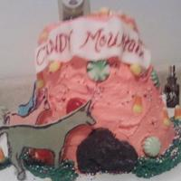 Charley The Unicorn: Candy Mountain Birthday cake for a young girl who loves Charley the Unicorn.