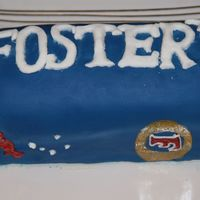 Foster's Cake This is a cake modeled after a Foster's beer can. This was for my husbands uncle's birthday. It was a yellow cake with...