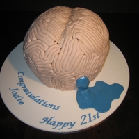 Brain Cake This was for a young woman's 21st birthday. She suffers from hydrocephalus (water on the brain) and was celebrating not only succesful...