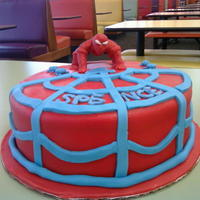 First Spiderman First spiderman. My DH did pretty much everything on this one, all I did was write the name :) This was also one of the three cakes we had...