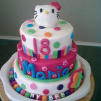 Another Hello Kitty My husband's employee saw the other hello kitty cake and wanted the same one. I liked the colors on this one better, more vibrant....