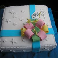 Gift.jpg I am new to cake decorating and a friend requested for a birthday cake. Seen some photos on making a Gift Box cake and hence decided to try...