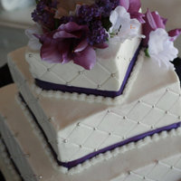 Purple Passion This cake was done for a graduation celebration. I never imagined a square shaped cake could be so difficult