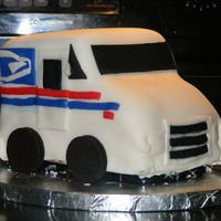 Postal Truck Birthday Cake This cake delivers! My husband is a mailman so I decided to make this cake for his birthday. It is the first cake I have ever made. I...