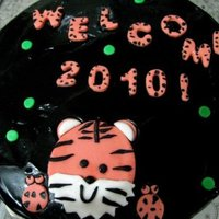 My Welcome 2010 Year Of The Tiger Happy New year Cc-ers :) made a 2010 tiger themed cake :)