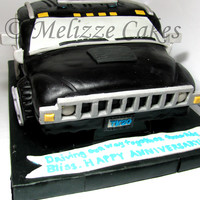 Hummer Cake I would like to thank Doug who posted his Template for raised trucks. Thanks DOUG! You The Man! :) Made from chocolate cake, ganache,...