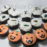 Spooky Cupcakes Chocolate with ganache and MMF. TFL
