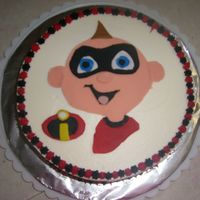 Jack Jack Attack!   fondant character on buttercream iced cake