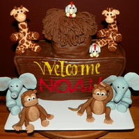 Noah's Ark   Fondant Ark animals for baby Noah!