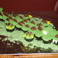 Alligator Cupcakes!   Brian's allgator cupcakes for his classmates at school!