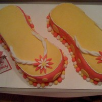 Flip Flop Cake Funfetti cake with wilton's decorating icing and MMF. The idea for this cake came from CC member Boshellbug. Thank you so much for...