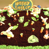 Easter Cake Got this idea from someone here on CC. . . thank you so much for your idea . This was the first time for making gum paste figures. This was...