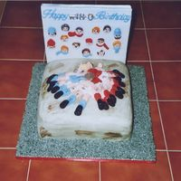 Rugby Cake   I made this for a friend as her son was a rugby fan,and she wanted a cake with a rugby theme.