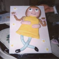 Birthday Cake   I made this cake for a 21 year old for her Birthday as she collected rag dolls.