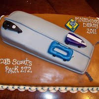 Cub Scouts Pinewood Derby Cub Scouts Pinewood Derby: Covered with fondant