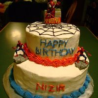 Spiderman Birthday Cake Spiderman Birthday Cake