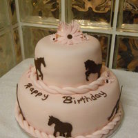 Wild Horses   fondant covered cake with fondant details for a 30th birthday. TFL