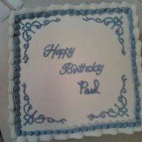 Birthday Cake WASC with Strawberry filling. Customer wanted simple.... no flowers! He loved it! TFL