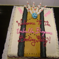 Bowling Alley Cake This was done for a friend of my mom's whose company was throwing a bowling party & asked me to do the cake. Bowling ball &...