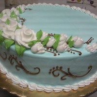 Wedding Cake Sample I did this cake @ a bakery for a wedding cake sample. Fortuantely the client wanted the cake done in my favorite colors so I enjoyed making...