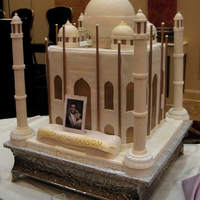 Taj Mahal Wedding Cake Greetings, this was created for a large wedding in NJ. Everyone loved it, it is made of cake, icing, fondant and support materials. It is/...