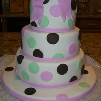 Polka Dot Baby Shower This cake was made to match the crib bedding