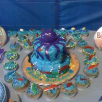 Under The Sea under the sea theme cake and cupcakes