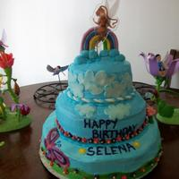 Fairy In The Clouds 3 tired cake