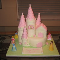 Princess Castle Cake This was my first time making and working with fondant. This cake was for my daugters 3rd birthday. She wanted a princess cake so I found...