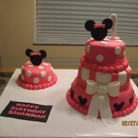 Minnie Mouse 1St Birthday Cake This was a fun, fun cake! I made it for my niece's 1st birthday. Thanks, aprilsong, for the idea! I tweeked it with a few of my own...