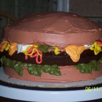 Cheeseburger Cake This was a cheeseburger cake I made for a cookout. The whipped frosting made it unbelievable. It was so good. Everyone loved it. It was the...