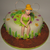 Tinkerbell Cake This cake was done for a Tinkerbell's fan. The cake is buttermilk cake filled with dulce de leche.