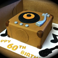 Good Ole 45S Chocolate cake, chocolate buttercream covered in mmf.