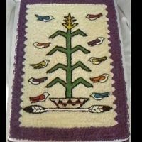"Navajo Tree Of Life Cake this is inspired by the ""Tree of Life"" Navajo Rug Design. This done with a small star tip. TYFL Mark-Mexicano"