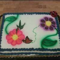 Flower Cake   just a cake i made at work