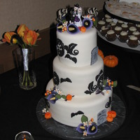Halloween Theme Wedding  Two of the sweetest people were married last night, & it was an honor to make their wedding cake. He is a chef and she is a pastry chef...