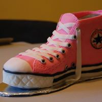 Converse All-Star Cake Fondant-covered pound cake with gumpaste accents.My first carved cake!