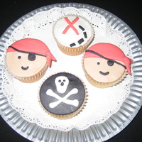 Pirate Cupcakes Yellow cake with MMF decorations.